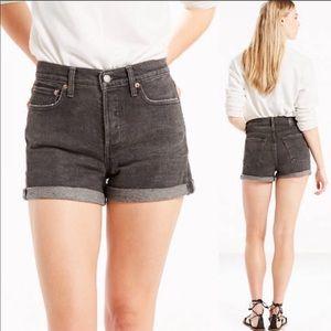 Levi's vintage style high waist jean shorts 29